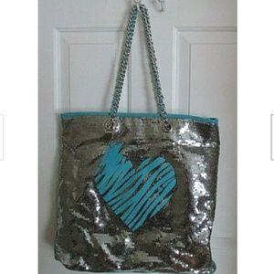 BETSEY JOHNSON | Betseyville Silver Sequin Tote